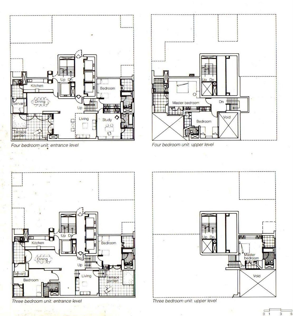 la torre kanchanjunga charles correa architectur233 plans